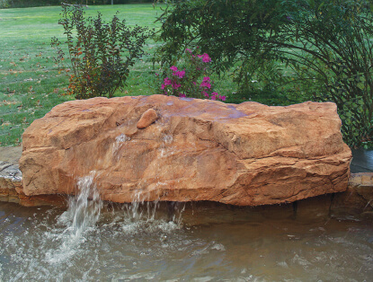 low profile waterfalls with lots of water action become the focal point of a swimming pool and they can be used for seating or play because they are made - Pool Waterfalls